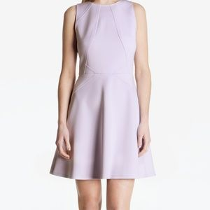 Ted Baker Lilac Mitton Peplum Stretch Skater Dress